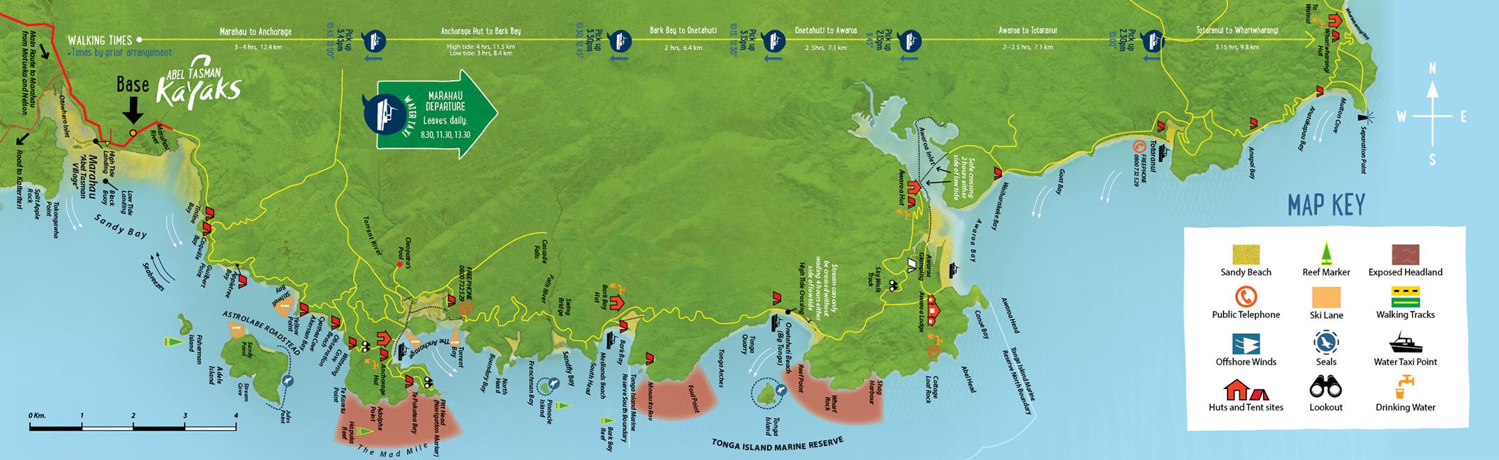 Base Map - Abel Tasman Kayaks